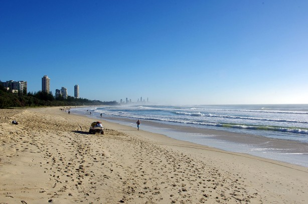 Looking North along Goldcoast Beaches