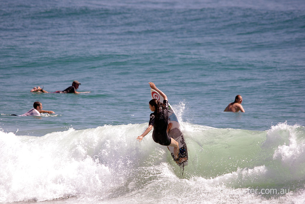 ripping it up at Burleigh