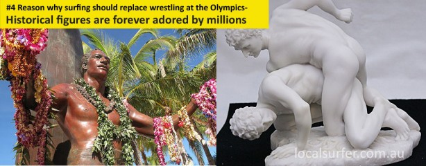 The number 4 reason why surfing should replace wrestling at the Olympics