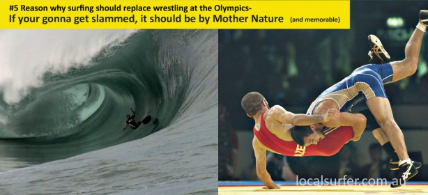 The number 5 reason why surfing should replace wrestling at the Olympics