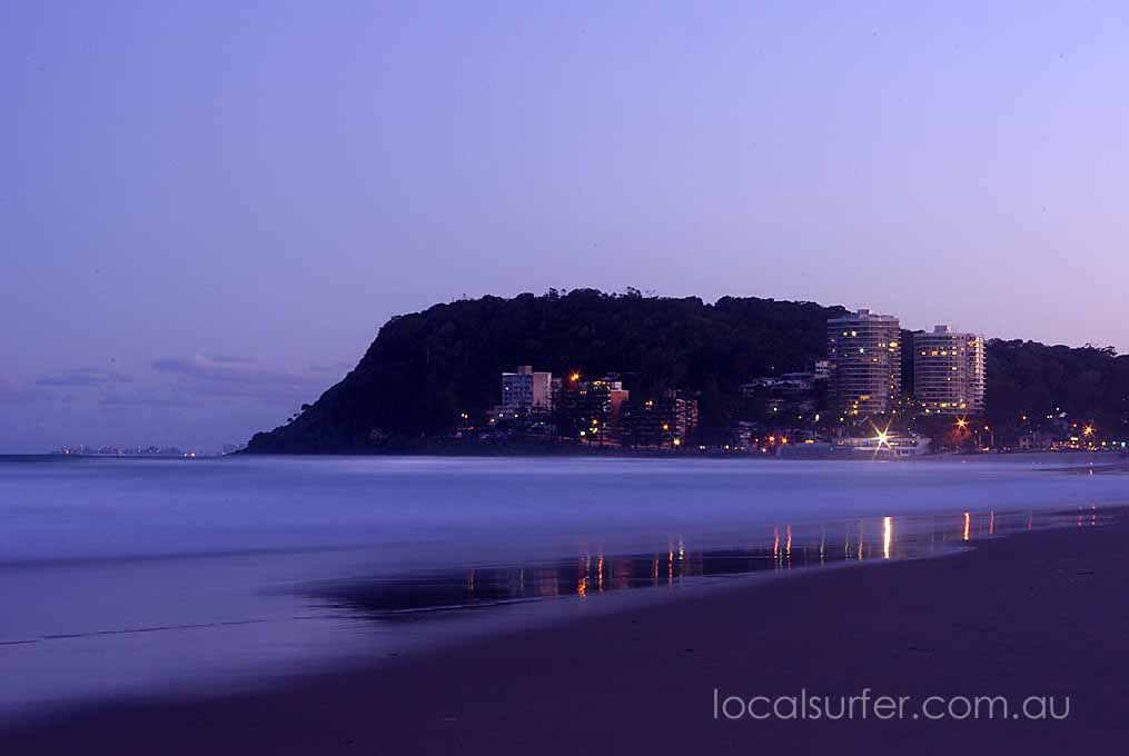 Little sparkles light up Burleigh in the early evening
