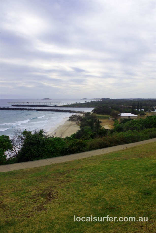 Duranbah lookout early on an overcast morning