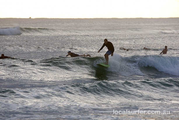 5:45 am - Surfing what is on offer