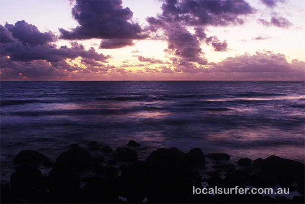5:20 am - Duranbah early, nothing doing here on the surf front today