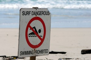 Dangerous for  swimming, but good for a wave
