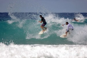 double duel at Snapper – quite busy here over the weekend