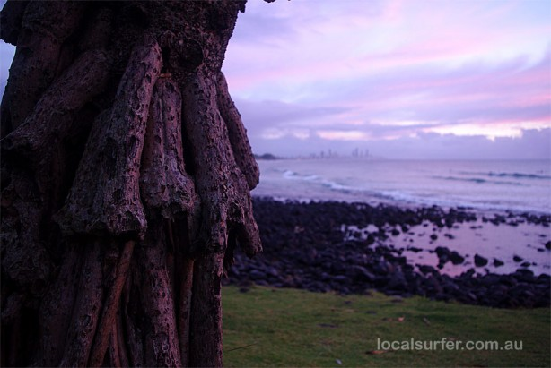 6:20 am - Burleigh at low tide