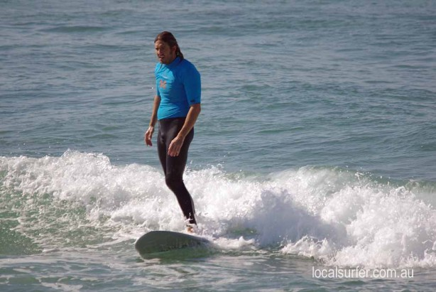 Riding the wave all the way to the sand