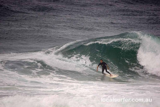 Bad weather usually makes for good waves