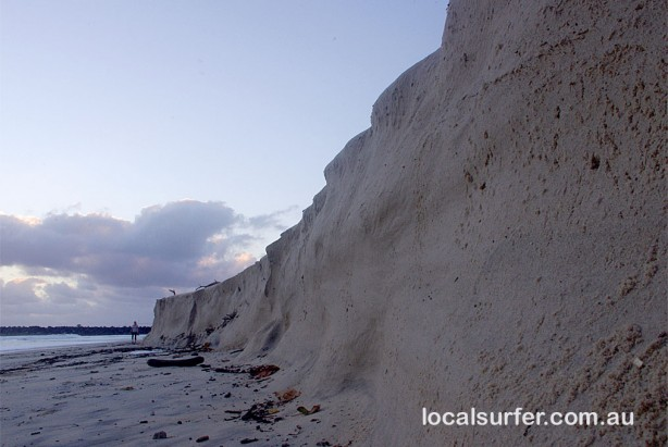 Beach erosion at Duranbah