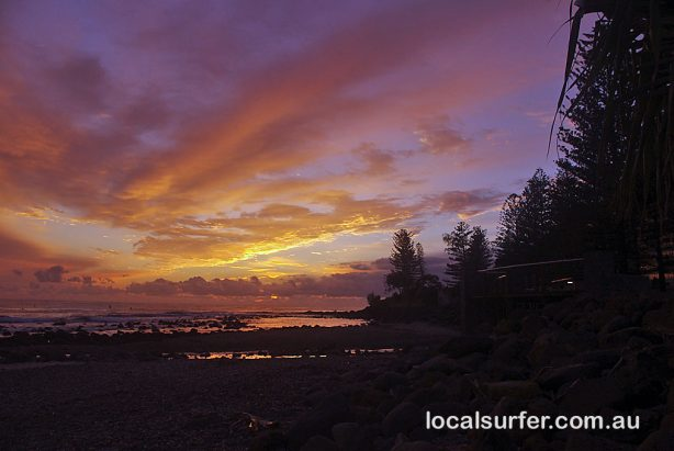 5:54 am - Dawn at Burleigh Heads